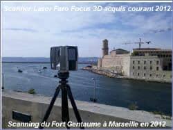 Scanning Fort Gentaume à Marseille