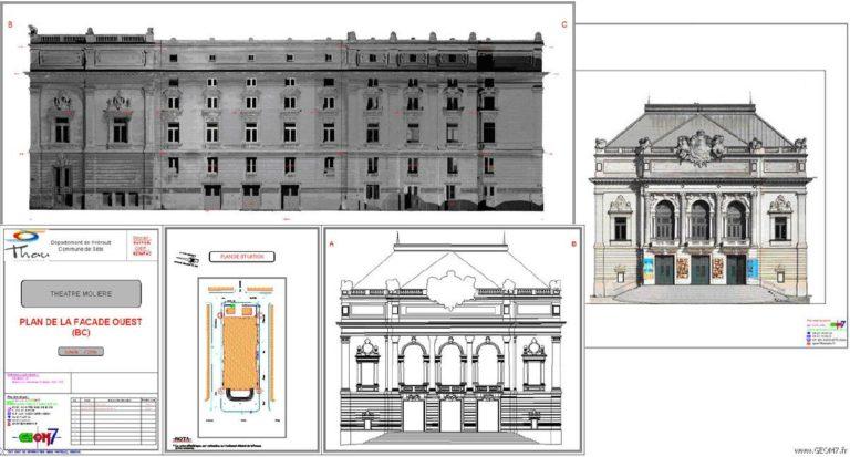 Relevé de façades monument orthophotoplan